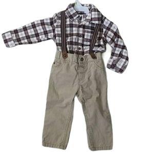 Carter's 2 piece Pants/ Shirt Set with sus…